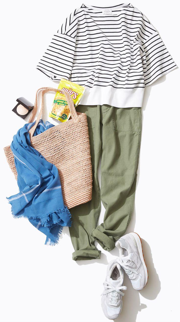夏旅スタイル #01 ベイカーパンツで乗馬体験へ | Style | LUMINE MAGAZINE