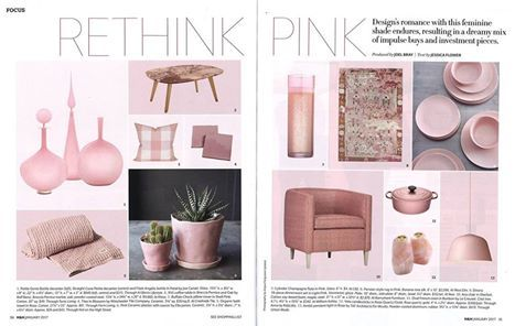 TBT January House & Home. Our Ava Chair looks fab in pink, a hot colour in décor.#madeforyou #beautiful