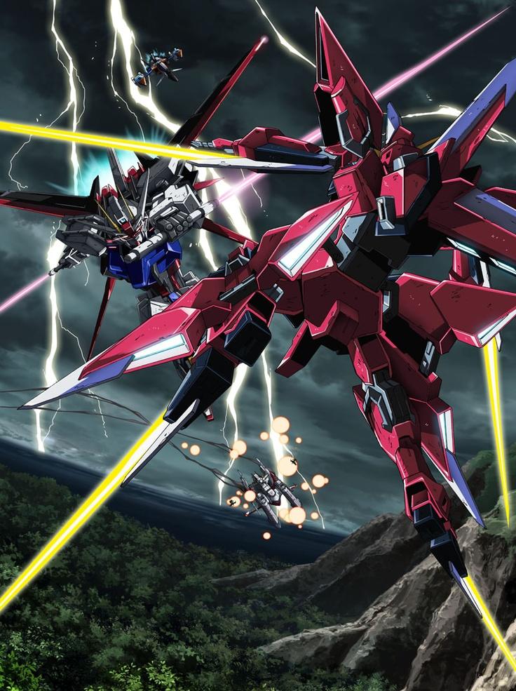GAT-X105 Strike (Pilot: Kira Yamato) vs GAT-X303 Aegis (Pilot: Athrun Zala)