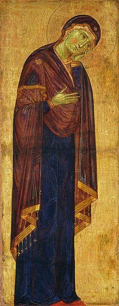 Maestro del Borgo Crocifisso (Maestro dei Crocifissi Francescani) (Maestro dei Crocifissi Blu) - Madonna in lutto - c.1272 - National Gallery of Art, Washington