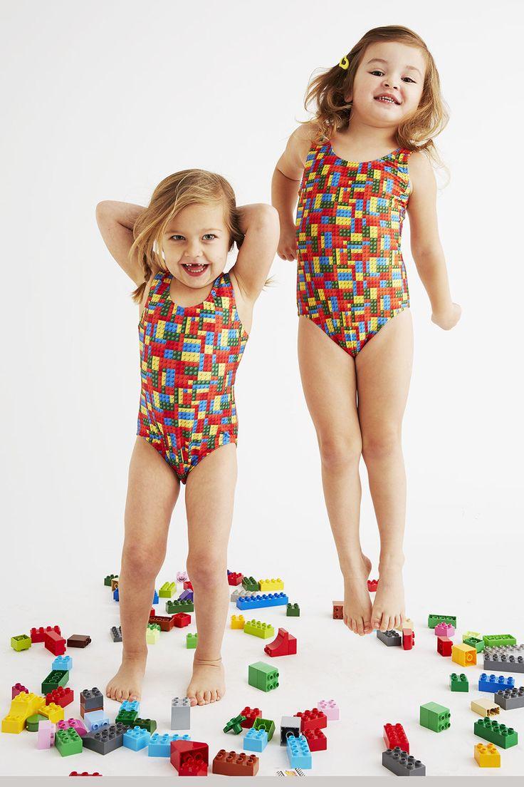 LEGO: Girl's Tank Swimsuit by BathingBelleSwimwear on Etsy https://www.etsy.com/listing/510331295/lego-girls-tank-swimsuit