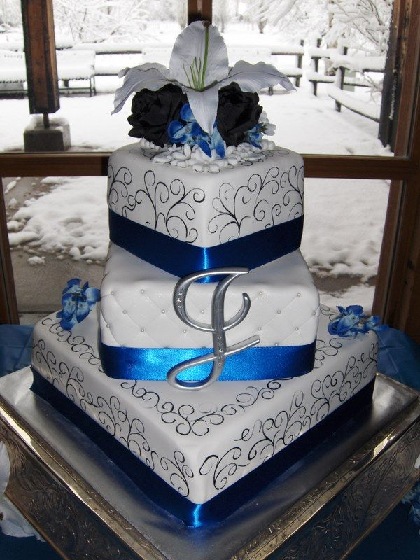 Cake we based our design on.... check out www.dessertedgeca...: Cakes Ideas, Diff Colors, Raechal Olives, Pretty Cakes, Cakes Cupcakes Cookies, Stargazer Lilies, Cakes Design, Blue Colors, Swirls Cakes