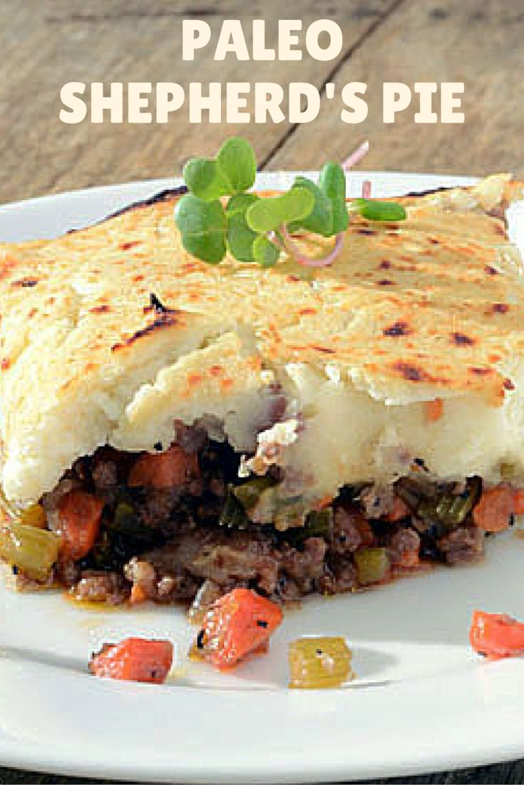 Paleo Shepherd's Pie is a healthy dinner! Our low-carb version of this traditional English dish uses cauliflower for the topping instead of high carbohydrate mashed potatoes, but you'll never know the difference.