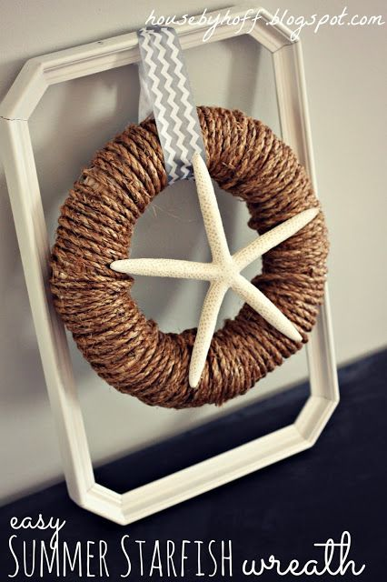 Easy Summer Starfish Wreath - House by Hoff