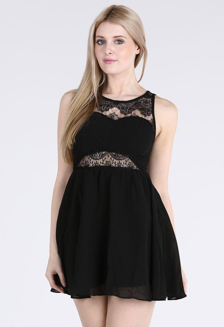suen,vestido cue cuerpo con blonda www.suen-moda.com