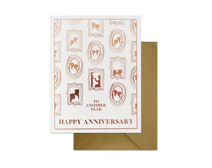 SO SWEET...! Our most-loved anniversary card. A gallery wall of illustrations showing journeys of loving relationship that lasts through seasons...! aww..   #greetingcards