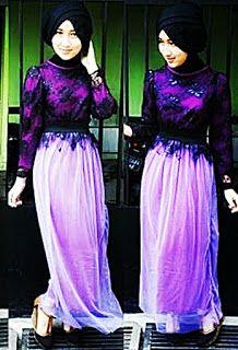 Contoh Model Busana Muslim Brokat