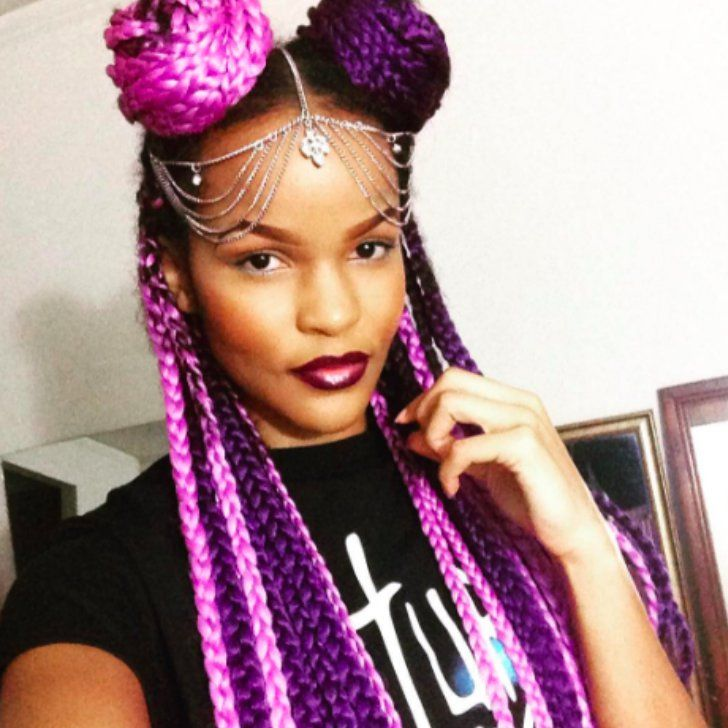 17 best ideas about colored box braids on pinterest grey