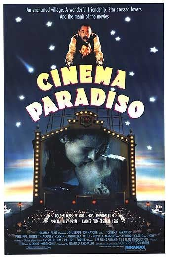 Cinema  Paradiso. Magical and total escapism.  One of my favourite films of all time.