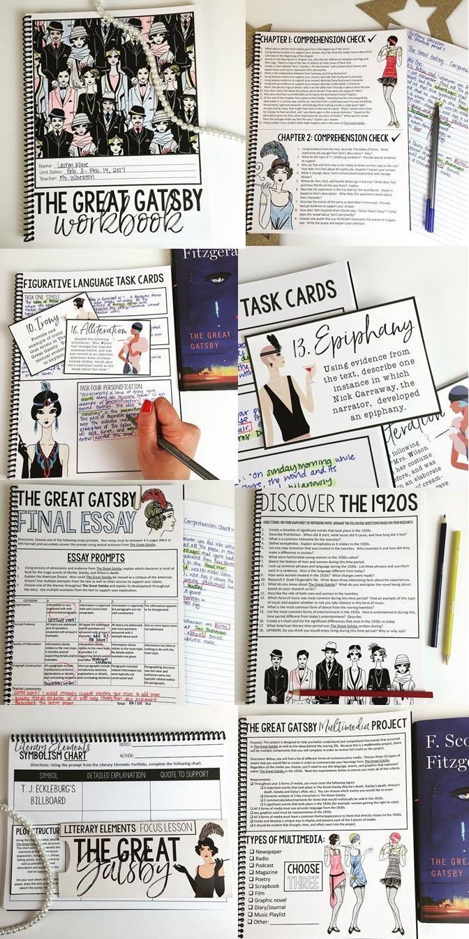 best images about language arts texts the great gatsby unit for teens middle high school comprehensive unit interactive