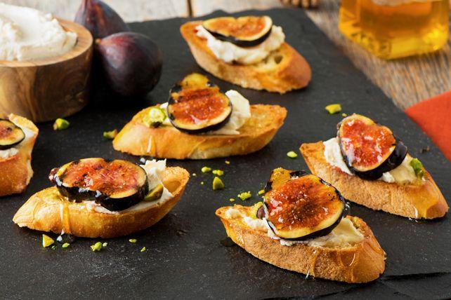 Crostinis de figues grillées à la vinaigrette Balsamique