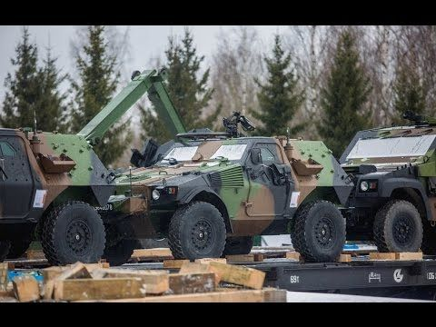 French Army Vehicles Arrive in Estonia