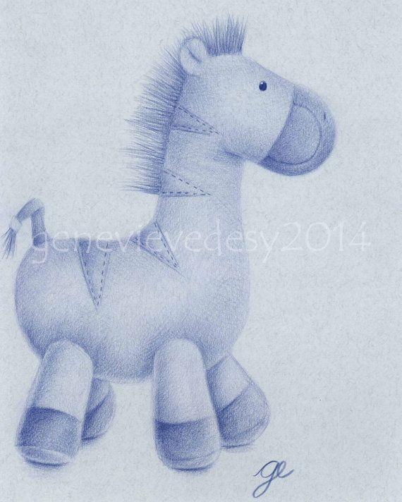 Reproduction d'un dessin de zèbre en peluche aux par MatanteGe