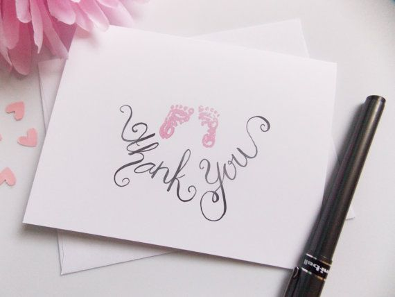 Baby Shower Thank You Cards   Thank You Cards   Baby Girl Thank You   New  Baby Thank Yous   Handmade   Thank You Set   Thank You Pack   Boy