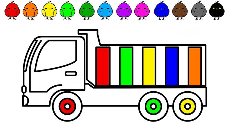 Dump truck and car coloring pages for kids, Construction truck colouring...