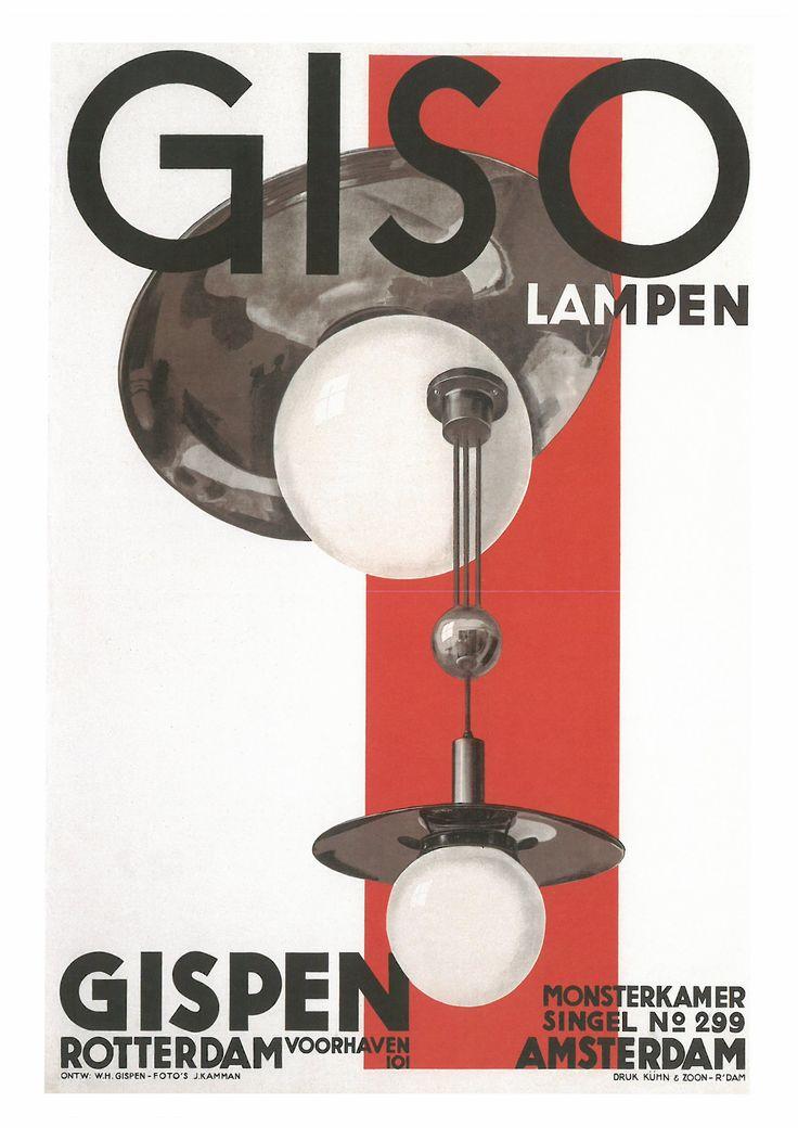 167. WILLEM HEHDRIK GISPEN (1890-1981) Giso Lampen. Gispen. Rotlerdam. Amsterdam (Bombillas Giso. Gispen. Róterdam - Ámsterdam), 1936