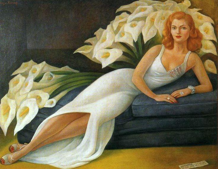 Portrait of Natasha Zakolkowa Gelman (Retrato de Natasha Zakalkova Gelman) 1943 by Diego Rivera