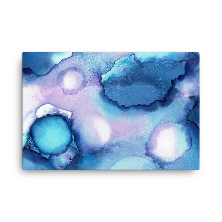 Cosmos II - 24x36 Stretched Canvas Print, Abstract Painting, Alcohol Ink Painting, Large Canvas Wall Art, New Age Art, indigo blue purple by JessicaTorrant on Etsy https://www.etsy.com/au/listing/569236369/cosmos-ii-24x36-stretched-canvas-print