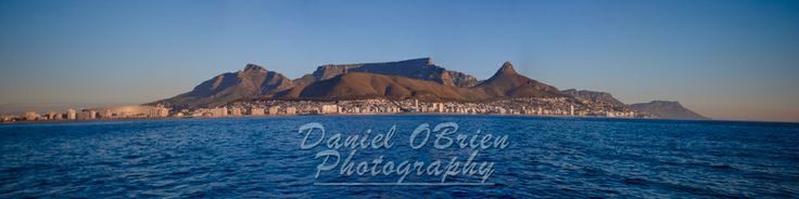 View of Table Mountain, South Africa from Table Bay