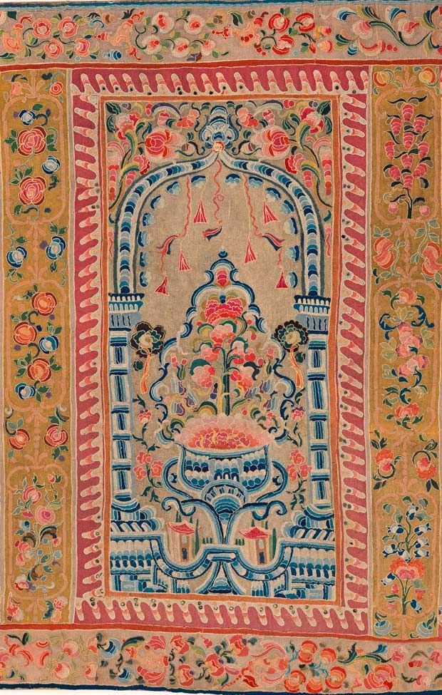 Multiple-niche prayer mat - detail, Ottoman, early 19th century, 588 x 162 cm   Sadberk Hanım Museum