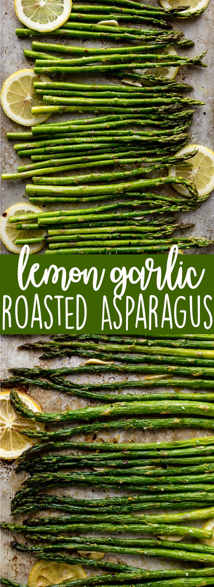 Oven roasted asparagus with Garlic, Lemon and Parmesan | Easy roasted asparagus | lemon asparagus | garlic asparagus | Parmesan asparagus | Healthy asparagus in oven