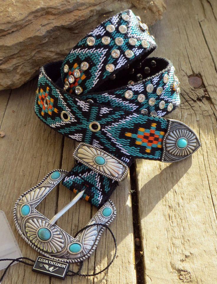 Cowgirl Bling AZTEC  Belt Native Tribal Gypsy Boho Southwest MONTANA WEST SMALL #MONTANAWEST