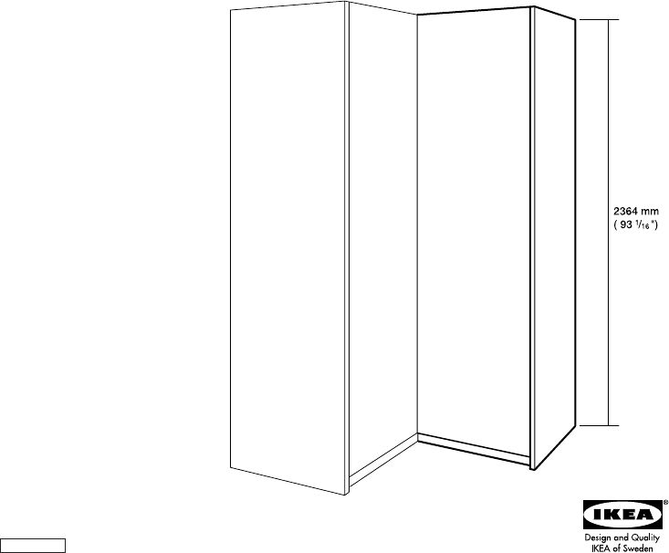 Pax Add On Corner Unit 21x93 Quot Corner Unit Ikea Pax The