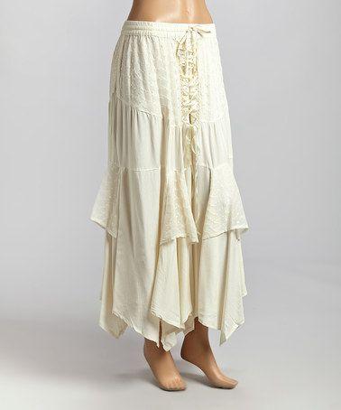 Off White Long Skirt