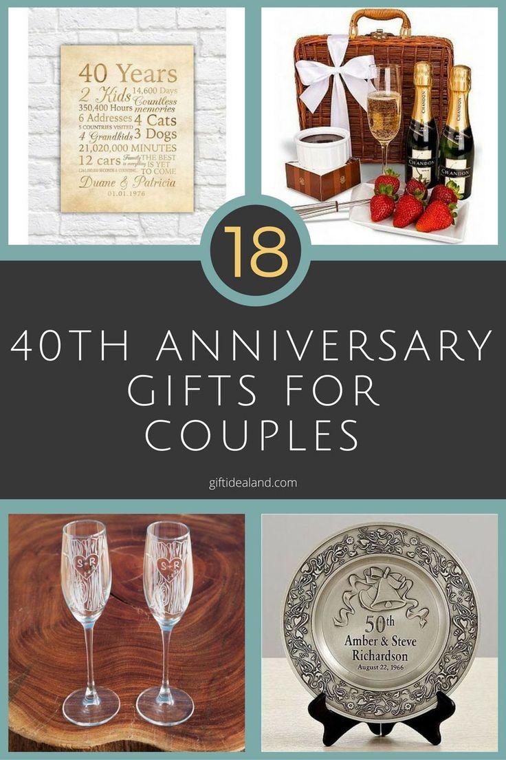 40 wedding anniversary gift ideas