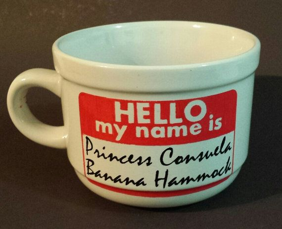 princess consuela banana hammock. the one where phoebe wants to change her name. cute gift for 90's sitcom lovers. friends tv show.