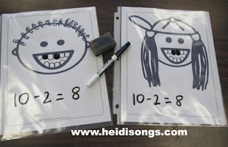 Loose Tooth Subtraction!  Free download at http://heidisongs.blogspot.com/2012/04/loose-tooth-subtraction.html.