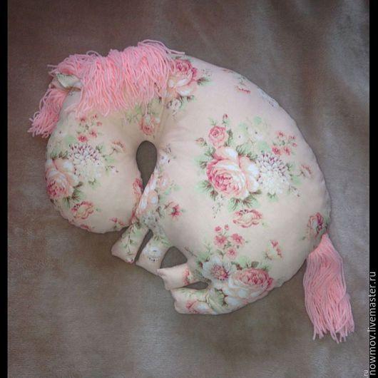 Текстиль, ковры ручной работы. Ярмарка Мастеров - ручная работа. Купить Подушки-лошадки. Handmade. Мятный, подушка, хлопок