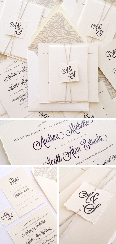 37 best wedding invite ideas images on pinterest weddings natural classic andrea scotts wedding invitations monicamarmolfo Choice Image