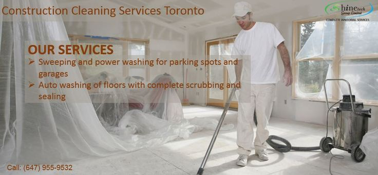 #ConstructionCleaningServices #Toronto includes both interior and exterior maintenance.