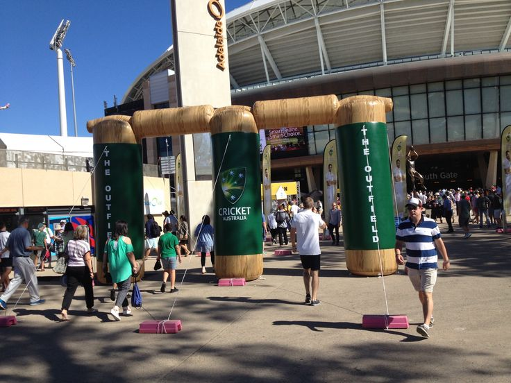 Inflatable entrance arch for a cricket playground -Inflatable games