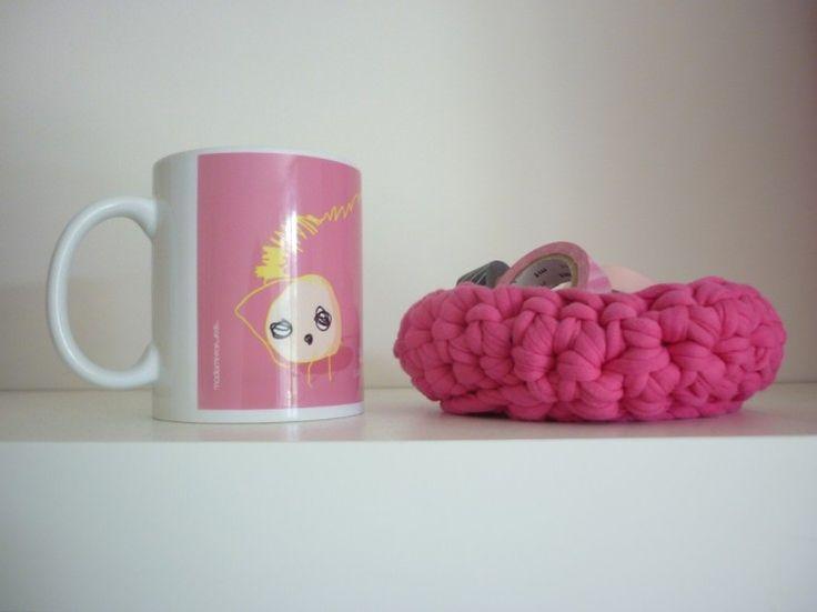 Mon mug Madame Pop and Kids. Image : La reine des pois - Mon éléphant à pois Le blog