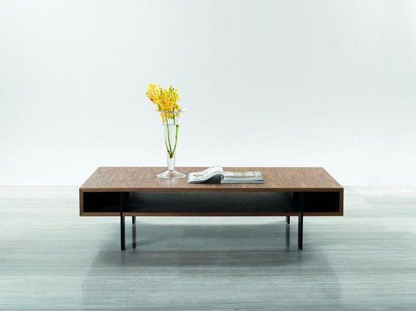 Vig Furniture - Modrest Stilt - Modern Walnut Coffee Table - VGHB123D