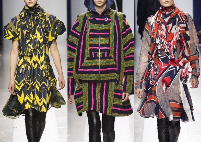 SACAI I Abstract Stripes – Bold Chevron Prints – Mismatched Placements – Constructed Stripe Ideas – Reinvented Traditionals – Check Mixtures – Reworked Knitwear – Fairisle Patterns I PARIS Fashion Week