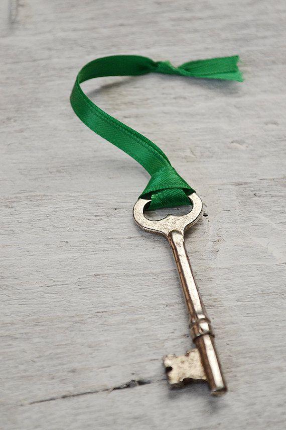 Vintage Skeleton Key Ornament  Christmas Key  Santas Magic Key