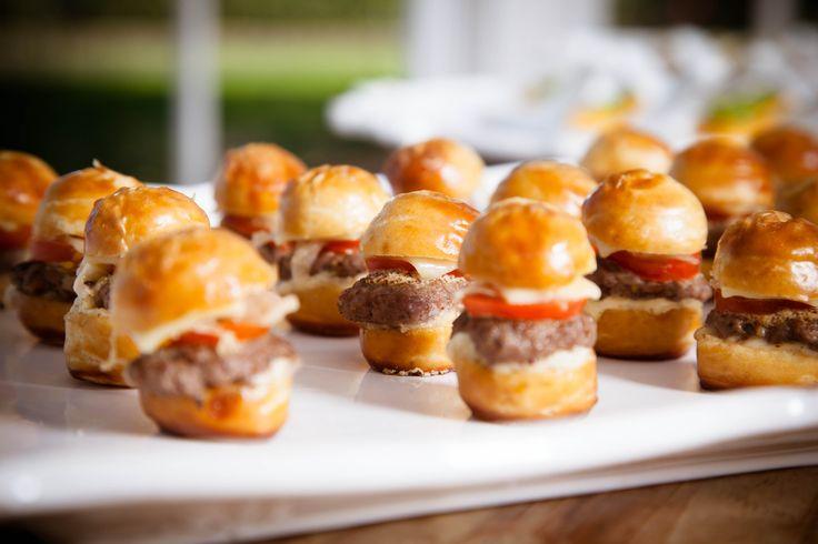 Mini Pretzel cheeseburgers with sauerkraut mayonnaise