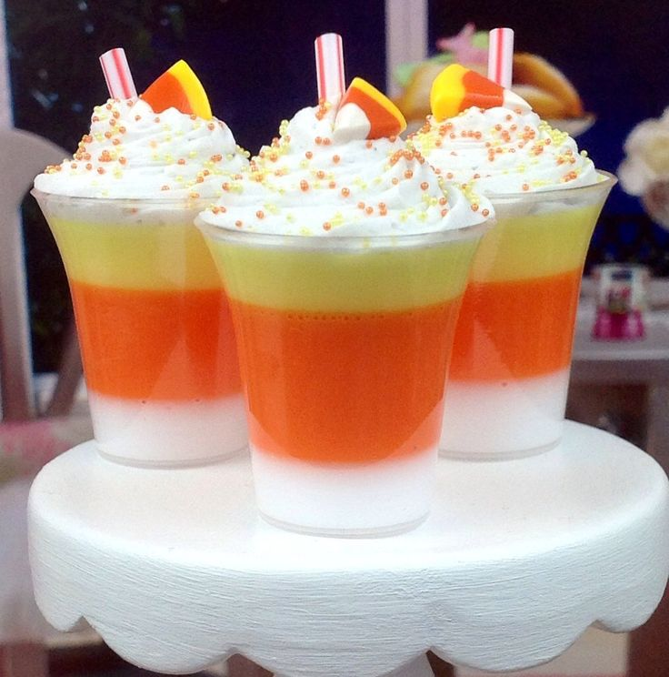 New Candy Corn Autumn Flavors Milkshake for American Girl Dolls - Dollicious Desserts by Dollicious Design Halloween by DolliciousDesign on Etsy