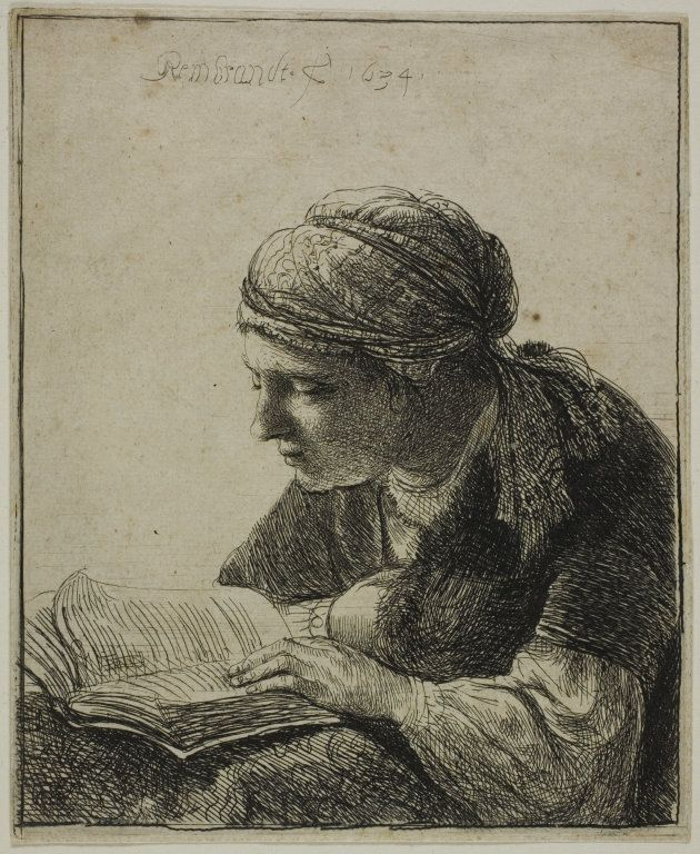 Focusing: Rembrandt van Rijn's Woman Reading, etching on paper, 1634. | The Art Institute of Chicago