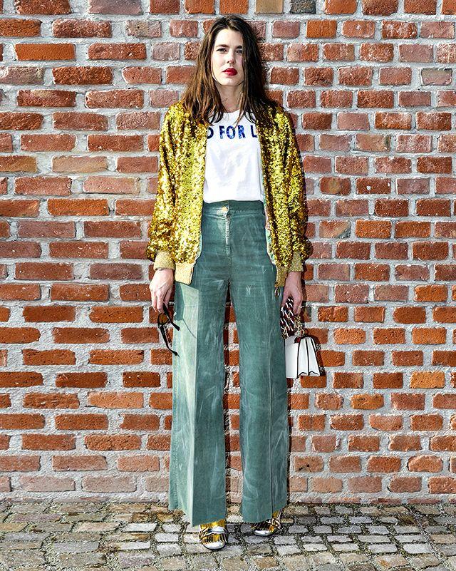 Charlotte Casiraghi, arrivata alla Milano Fashion Week 2017, alla sfilata Gucci: è lei la più fotografata