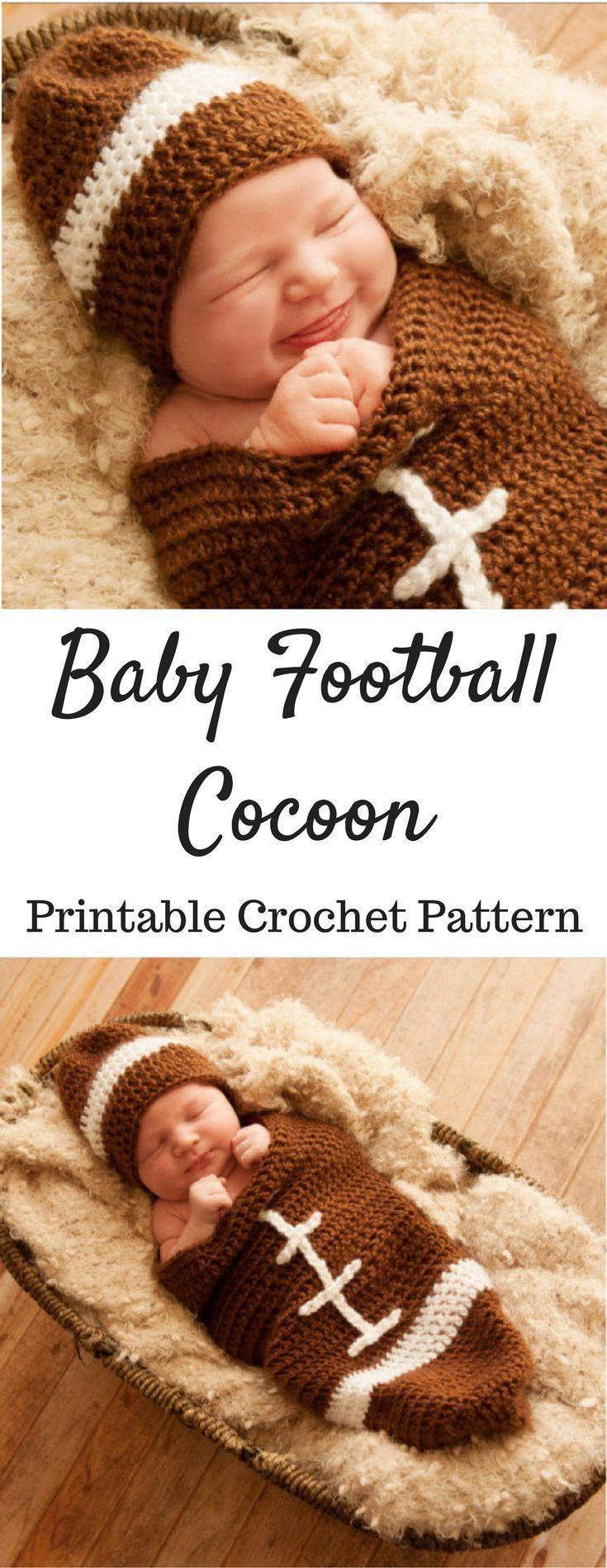 Baby Football Cocoon Crochet Pattern Printable PDF | Newborn ...