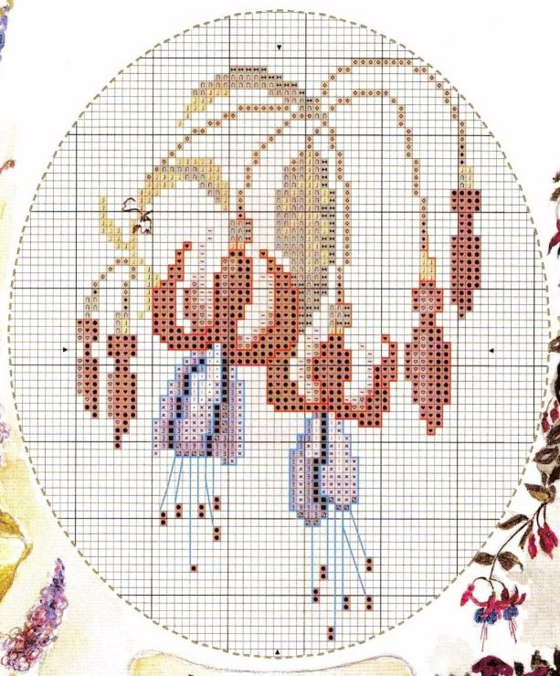 Fuchsia Cross Stitch Chart