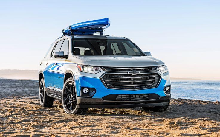 Chevrolet Traverse, 2017, SUP Concepto, nuevo SUV, coches Americanos, coches en la playa, Chevrolet