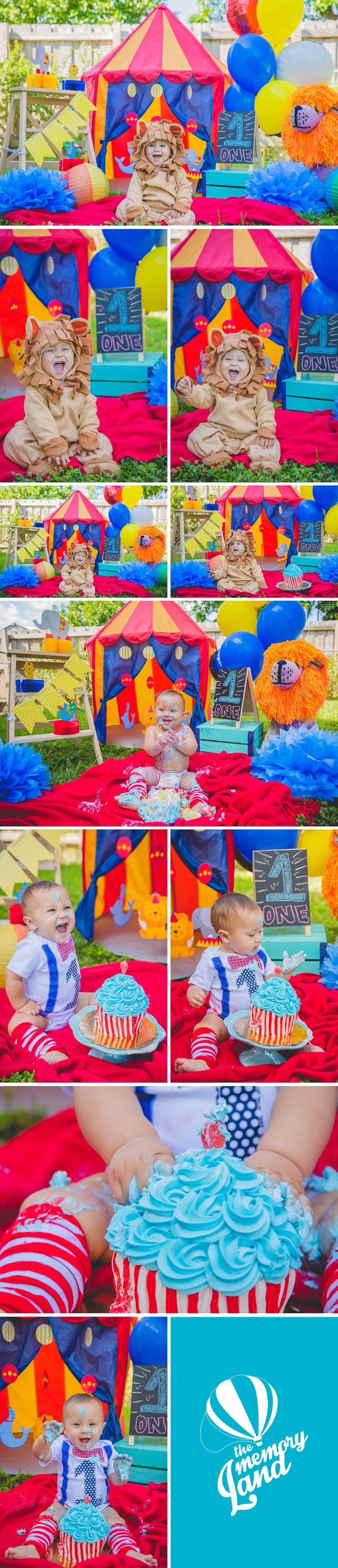 Circus Smash The Cake Photography. Smash The Cake. Circus Cake.Little Boy. Miami Photography. Child Photography. One Year Photography.Circus Decoration.Check out more of our work :) www.thememoryland