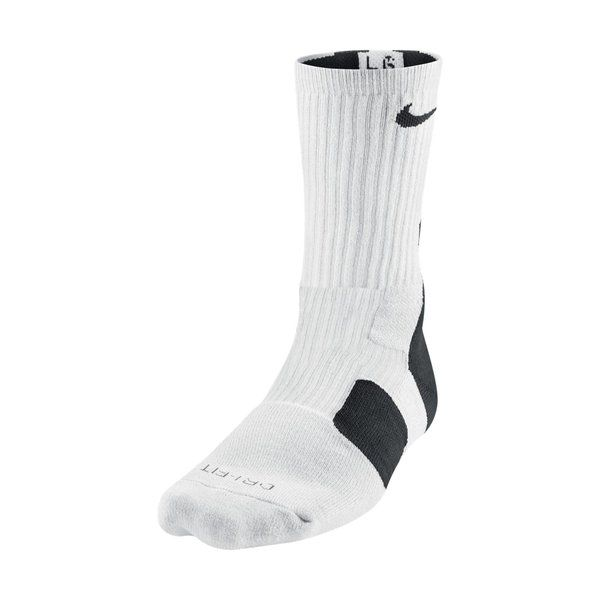 Calcetines Nike Elite 2.0 Dri-fit blanco/negro www.basketspirit.com/Calcetines-Baloncesto