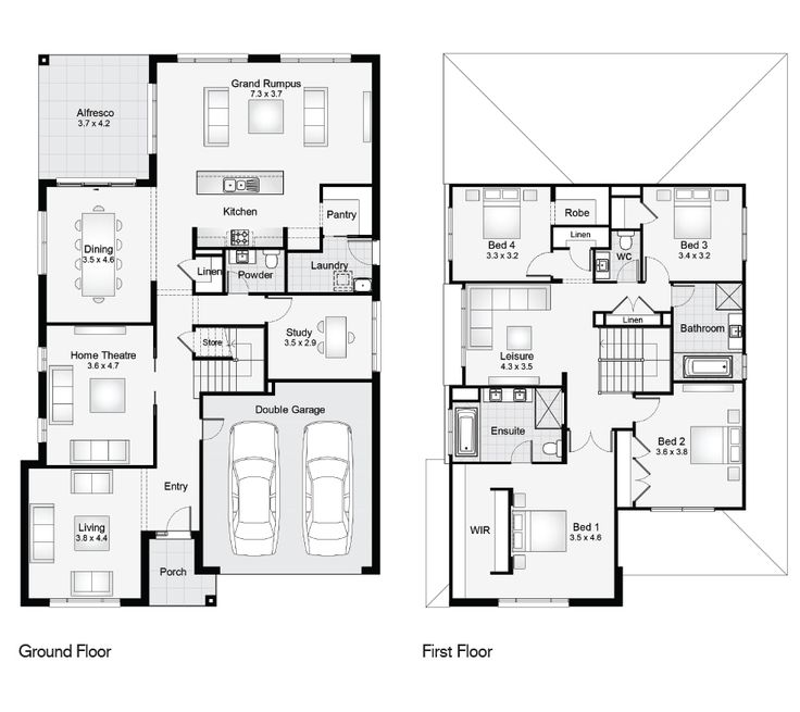 9 best new build floor plans images on pinterest floor for Vice president house floor plan