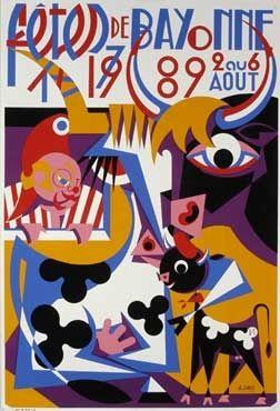 Affiche des fêtes de Bayonne en 1989